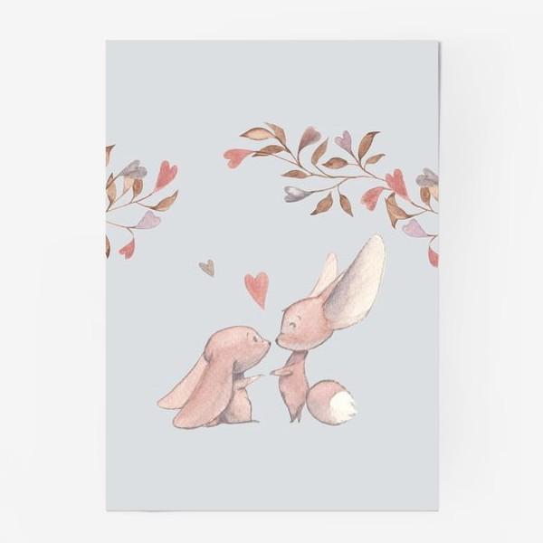 Постер «Влюбленная пара под аркой из цветов»