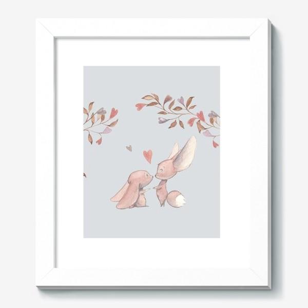 Картина «Влюбленная пара под аркой из цветов»