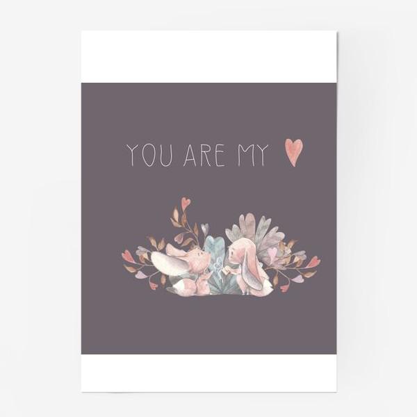 Постер «Влюбленная пара you are my love »