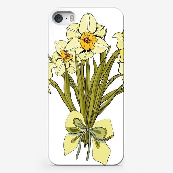 Чехол iPhone «белые нарциссы букет»