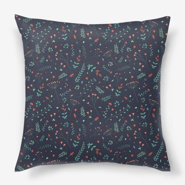 Подушка «Травы и цветы»