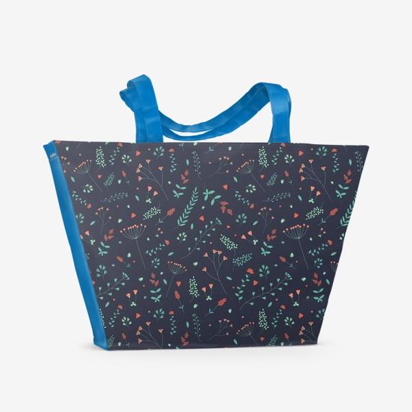 Пляжная сумка «Травы и цветы»