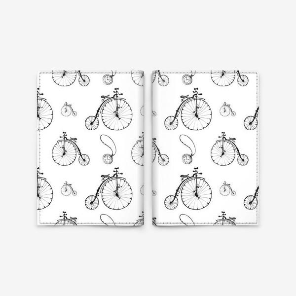 Обложка для паспорта «Ретро велосипеды»