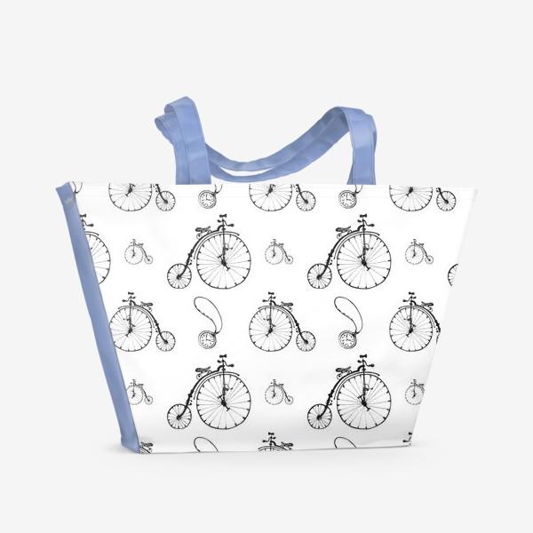 Пляжная сумка «Ретро велосипеды»