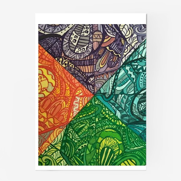 Постер «Узоры времен года»