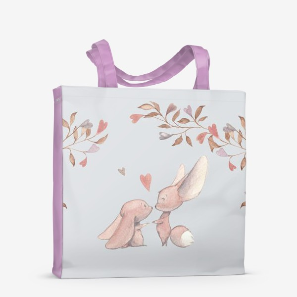 Сумка-шоппер «Влюбленная пара под аркой из цветов»