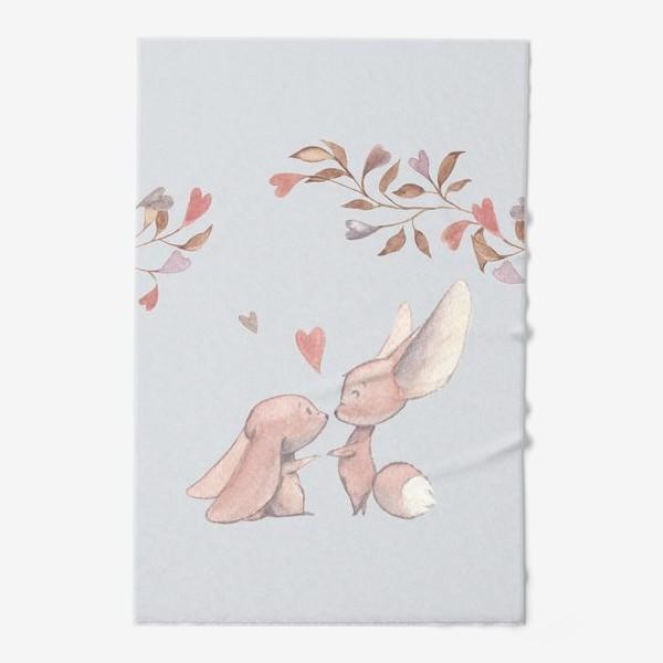 Полотенце «Влюбленная пара под аркой из цветов»
