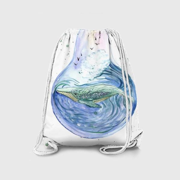 Рюкзак «Море в лампочке. Кит»