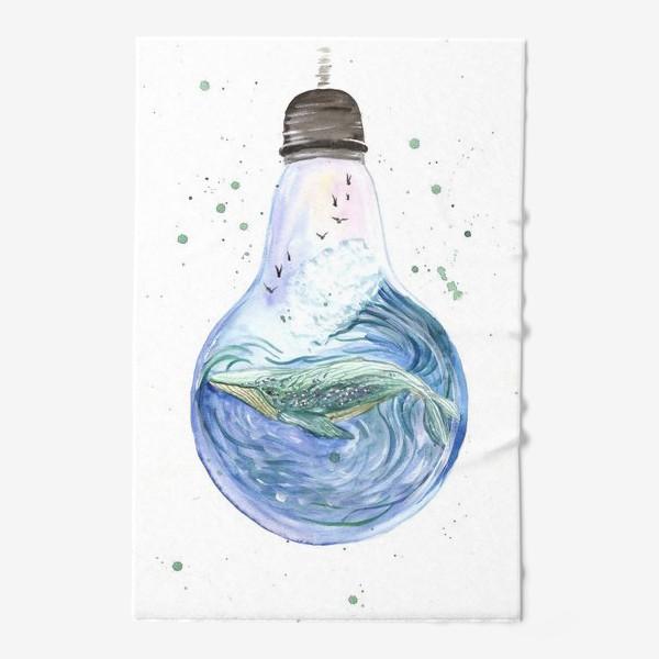 Полотенце «Море в лампочке. Кит»