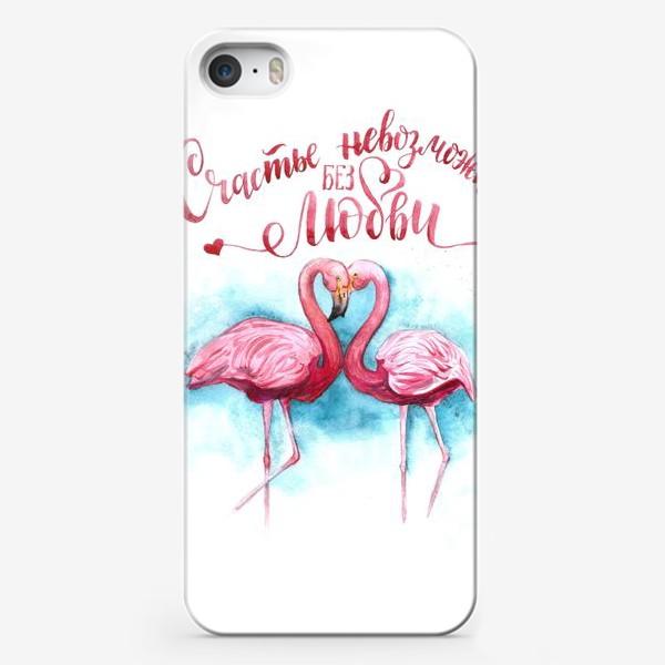 Чехол iPhone «счастье невозможно без любви»