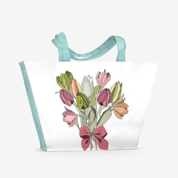 Пляжная сумка «букет для любимой»