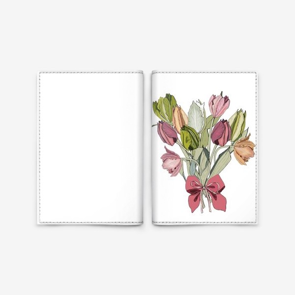 Обложка для паспорта «букет для любимой»