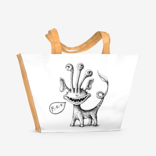 Пляжная сумка «Рычащий монстрик»