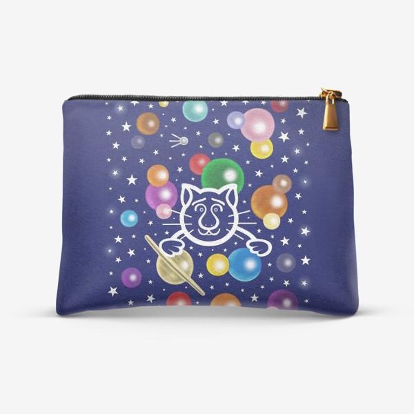 Косметичка «Космический кот, или Звёздный путешественник»