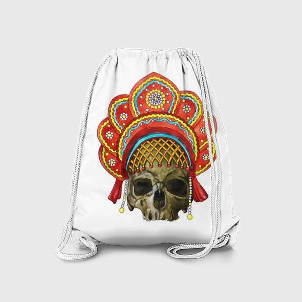 Рюкзак «череп в кокошнике»