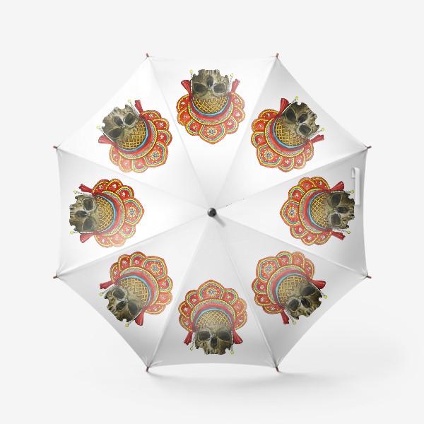 Зонт «череп в кокошнике»