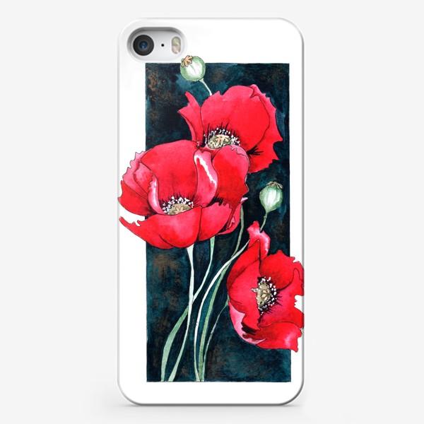 Чехол iPhone «Красный мак»