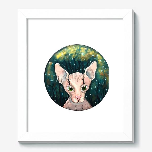 Картина «Кот сфинкс  в лесу»