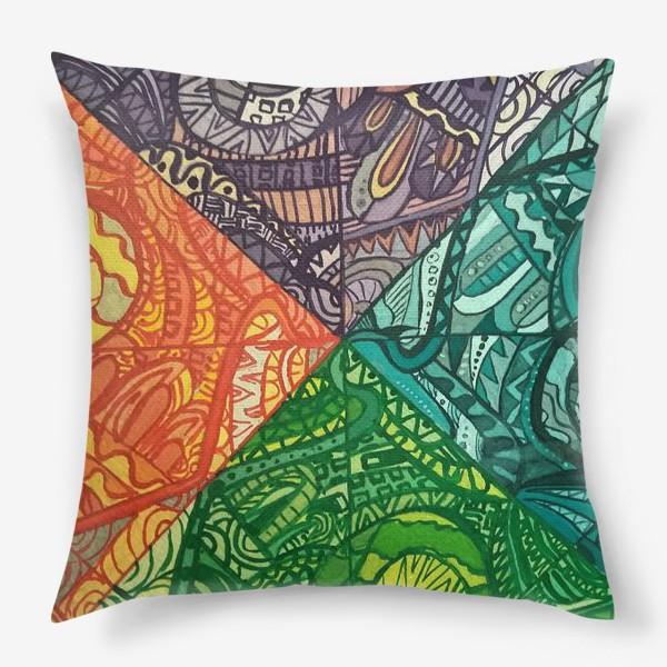 Подушка «Узоры времен года»