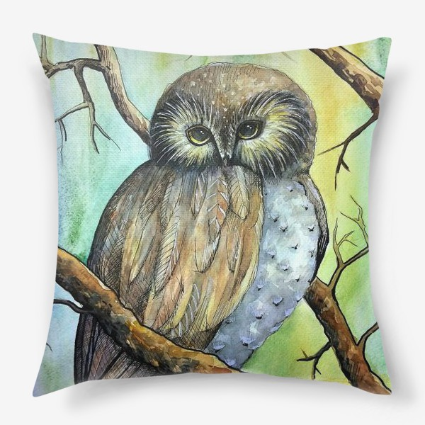 Подушка «Сова в лесу»