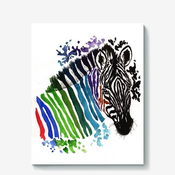 Холст «Цветная зебра»