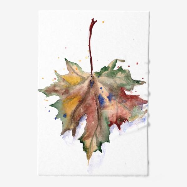 Полотенце «Лист кленовый»