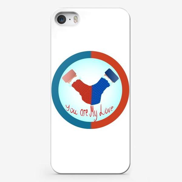 Чехол iPhone «Любовь, одна варежка на двоих»