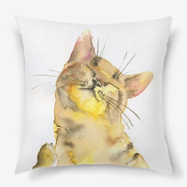 Подушка «Рыжий кот проснулся»