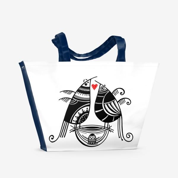 Пляжная сумка «Птицы*9»