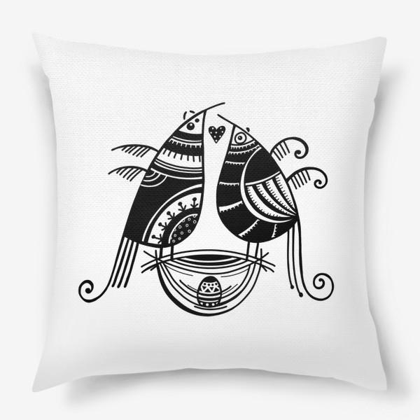 Подушка «Птицы*8»