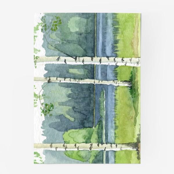 Постер «Пейзаж с березами»