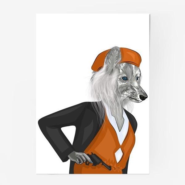 Постер «Бонни и Клайд парный принт. Бонни.»