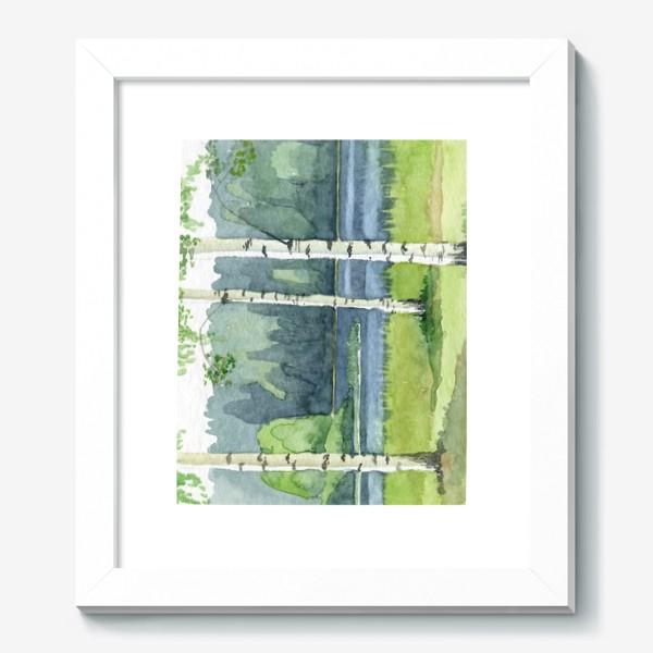 Картина «Пейзаж с березами»