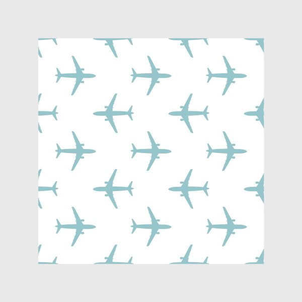 Скатерть «Воздушный паттерн с самолётами»