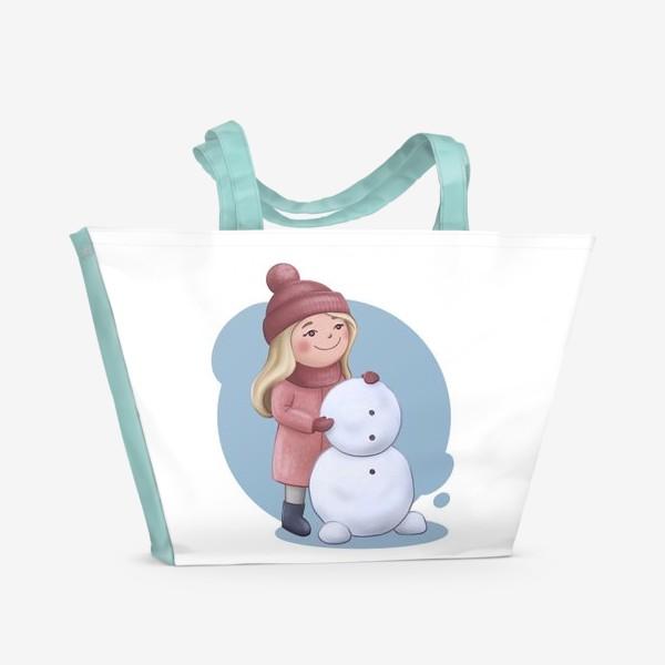 Пляжная сумка «Общее дело. Парные принты к 14 февраля»