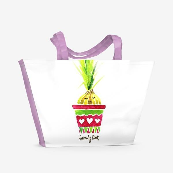 Пляжная сумка «FAMILY LOOK. GIRL»