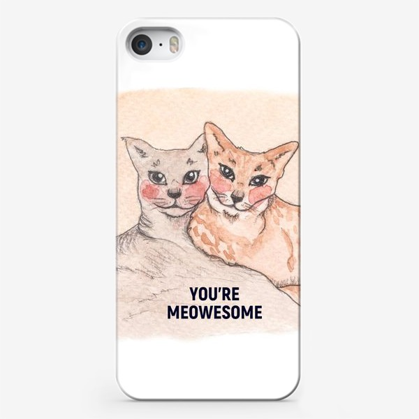 Чехол iPhone «you're meowesome»