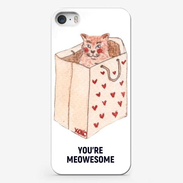 Чехол iPhone «you're meowesome xoxo»