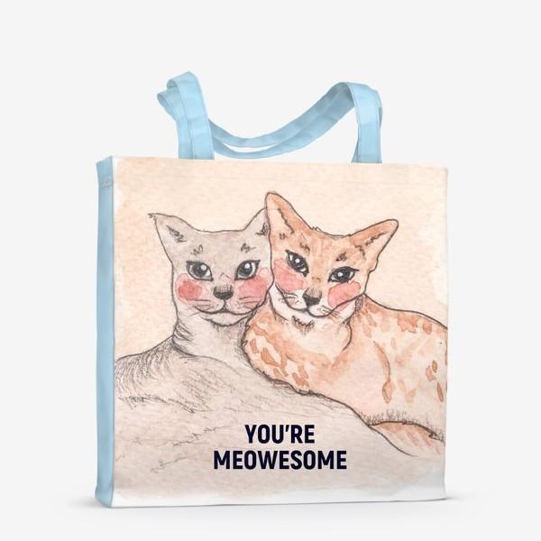 Сумка-шоппер «you're meowesome»