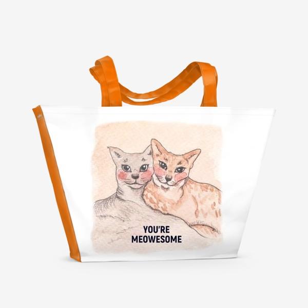 Пляжная сумка «you're meowesome»