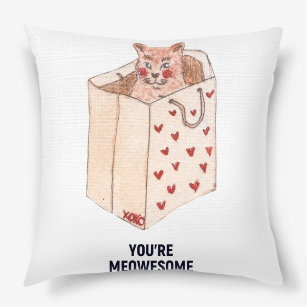 Подушка «you're meowesome xoxo»