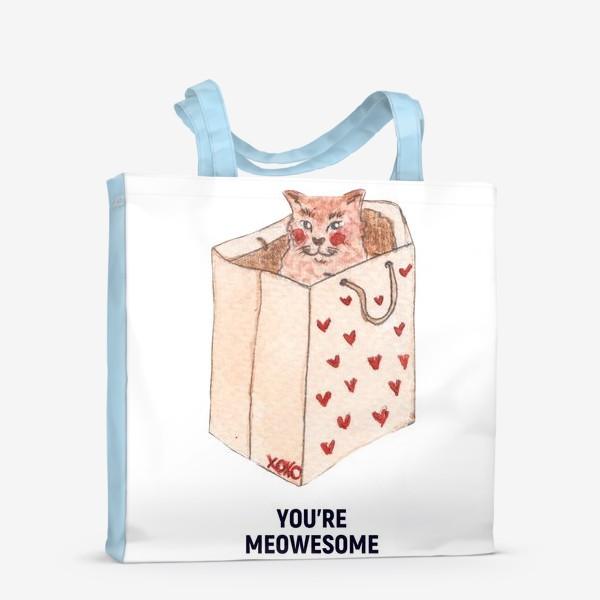 Сумка-шоппер «you're meowesome xoxo»