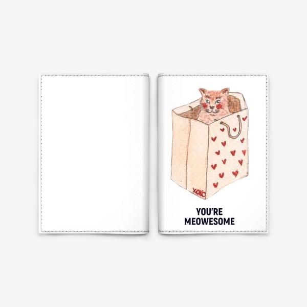 Обложка для паспорта «you're meowesome xoxo»