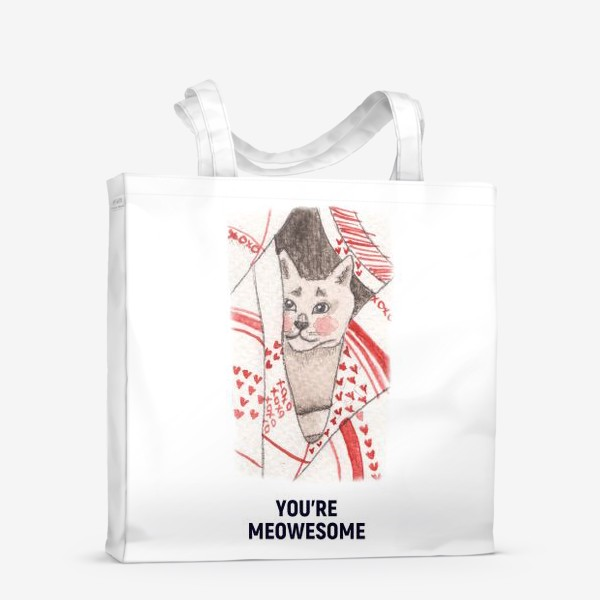 Сумка-шоппер «You're meowesome »