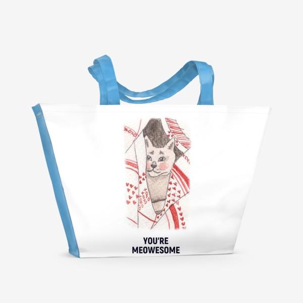 Пляжная сумка «You're meowesome »