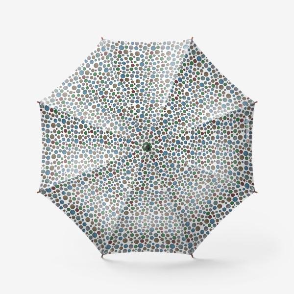 Зонт «Горошек на белом»