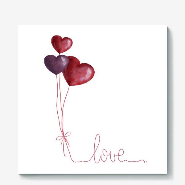Холст «С любовью»