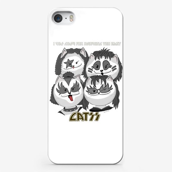 Чехол iPhone «I was made for MEOWing you baby»