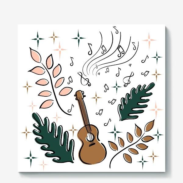 Холст «Я играю на укулеле»