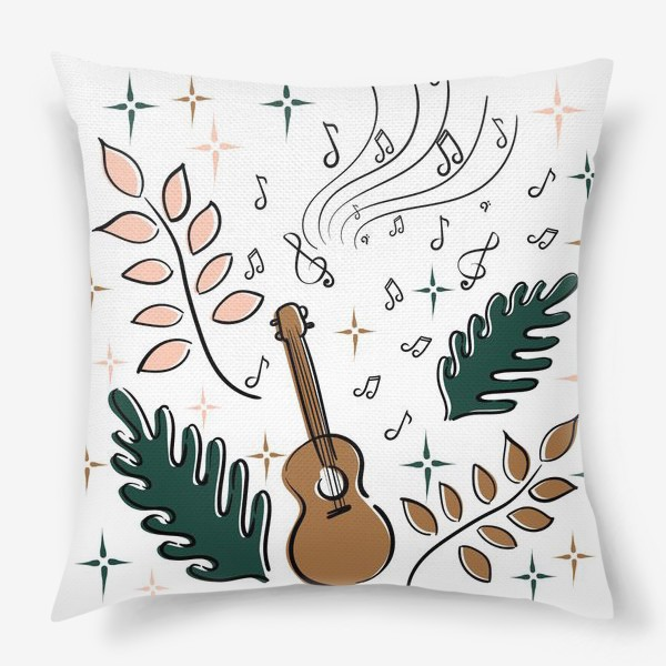 Подушка «Я играю на укулеле»